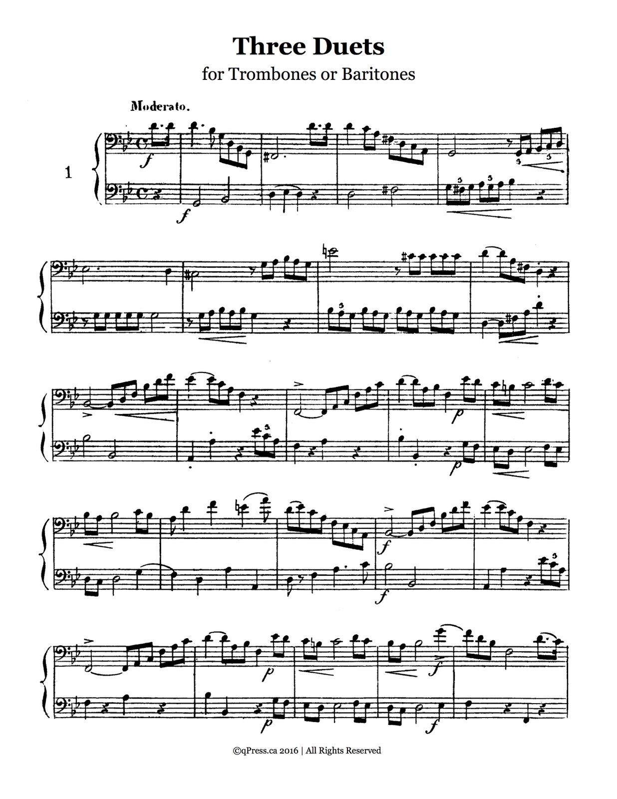 Vobaron's 34 Etudes & Duets trombone 4