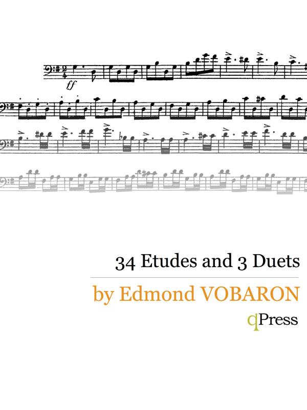 Vobaron's 34 Etudes & Duets trombone