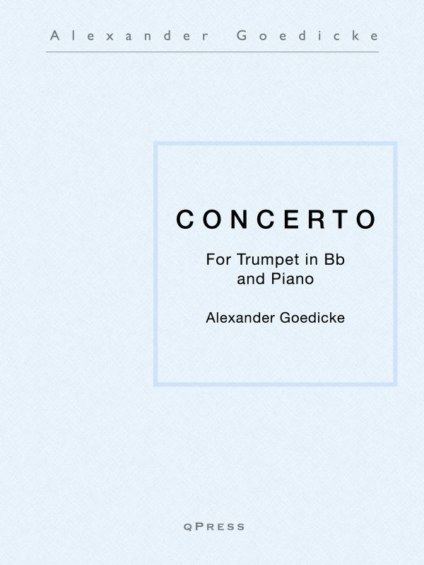 Goedicke, Concerto for Trumpet (Solo and Score)