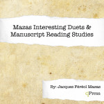 Mazas, Maza's Interesting Duets and Manuscript Reading Studies