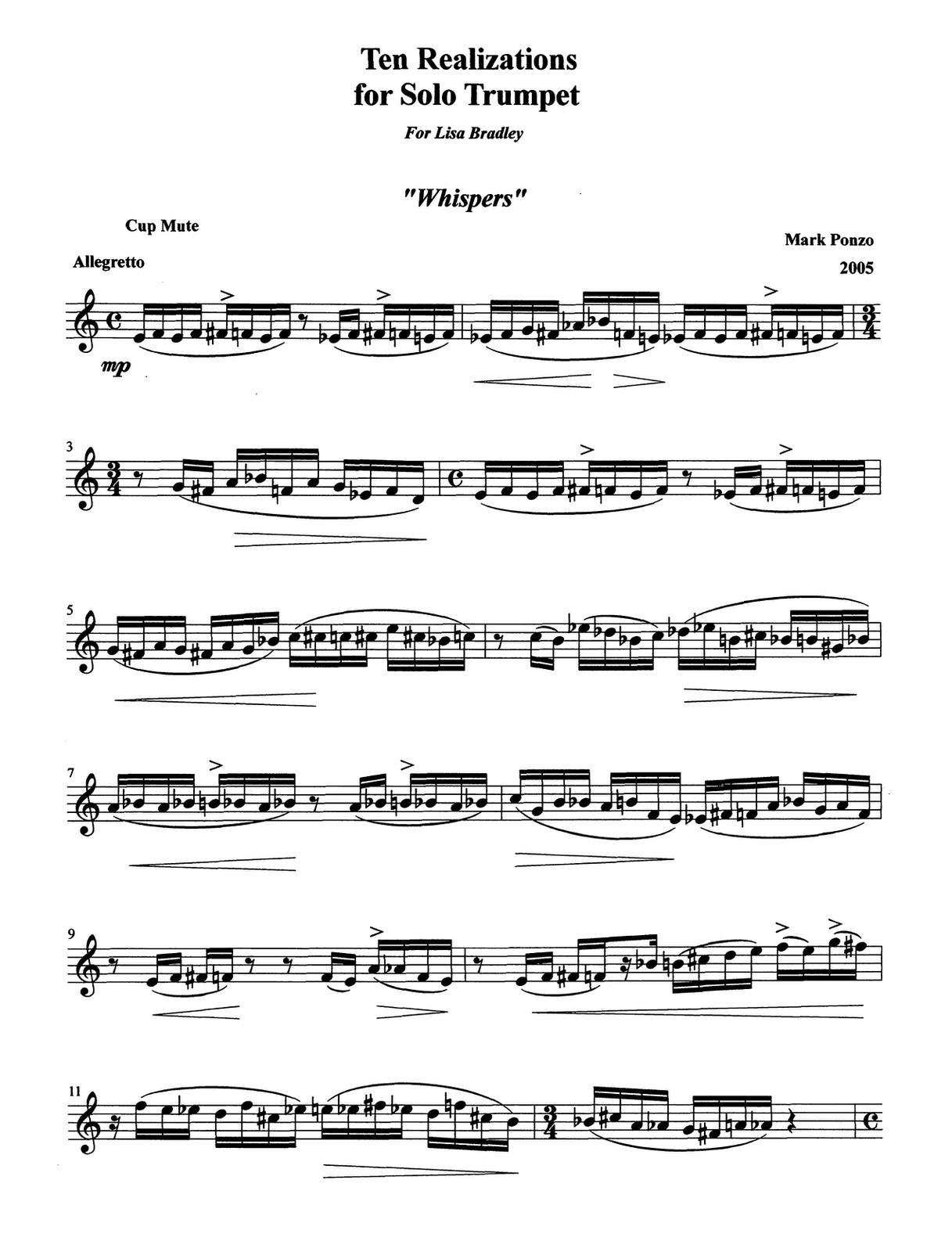Ponzo, Ten Realizations for Solo Trumpet_000003