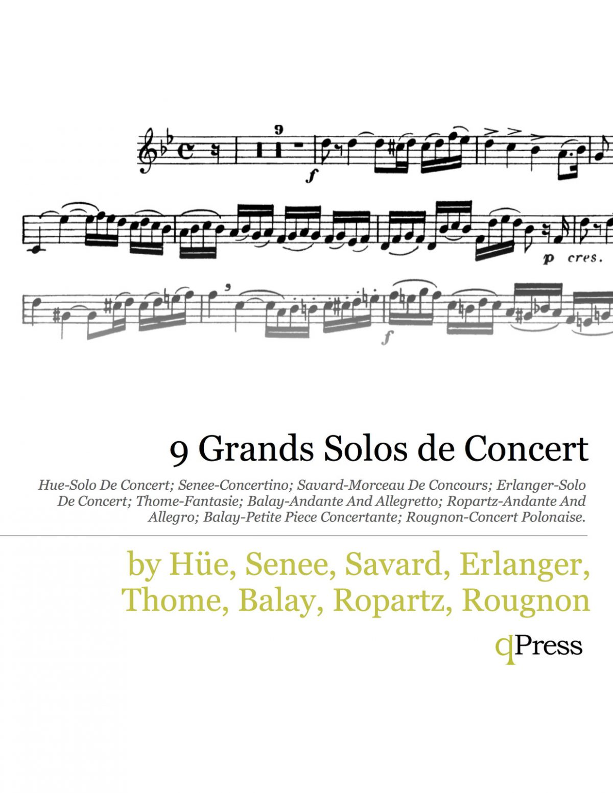Various, 9 Grands Solos de Concert