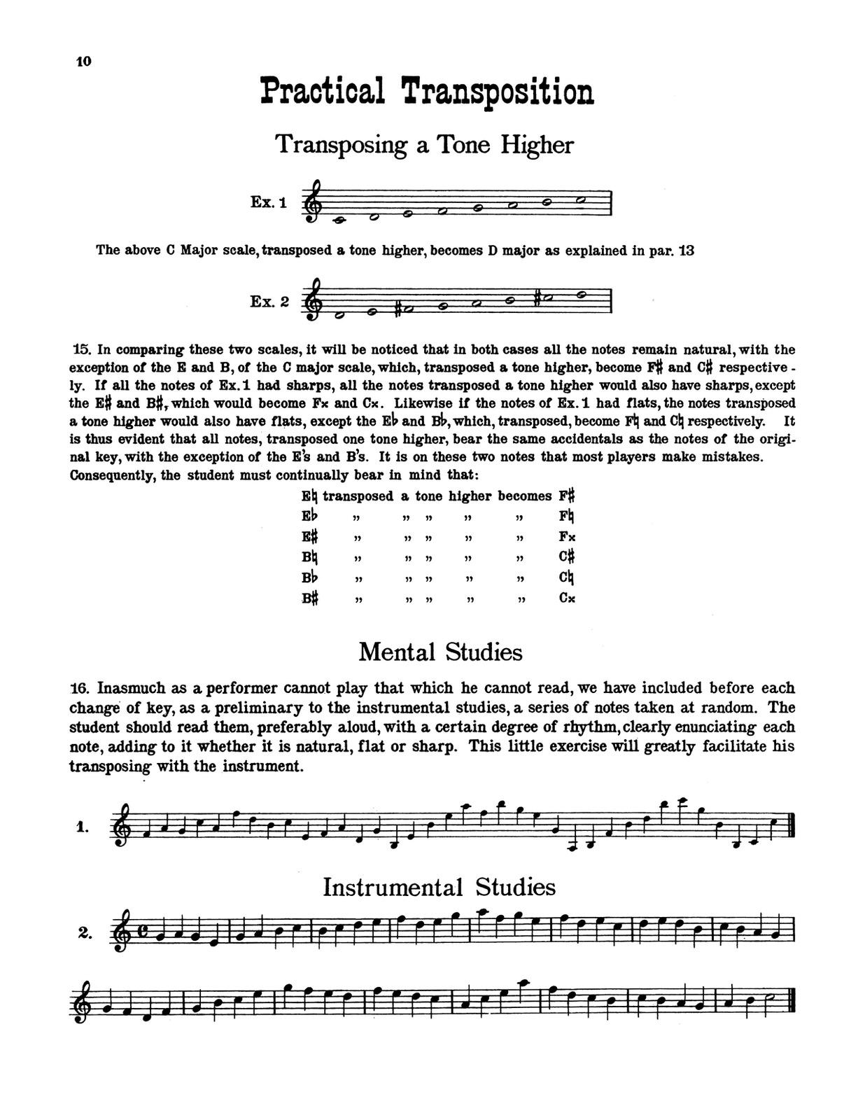 Langenus, Gustave, Practical Transposition for Trumpet-p10