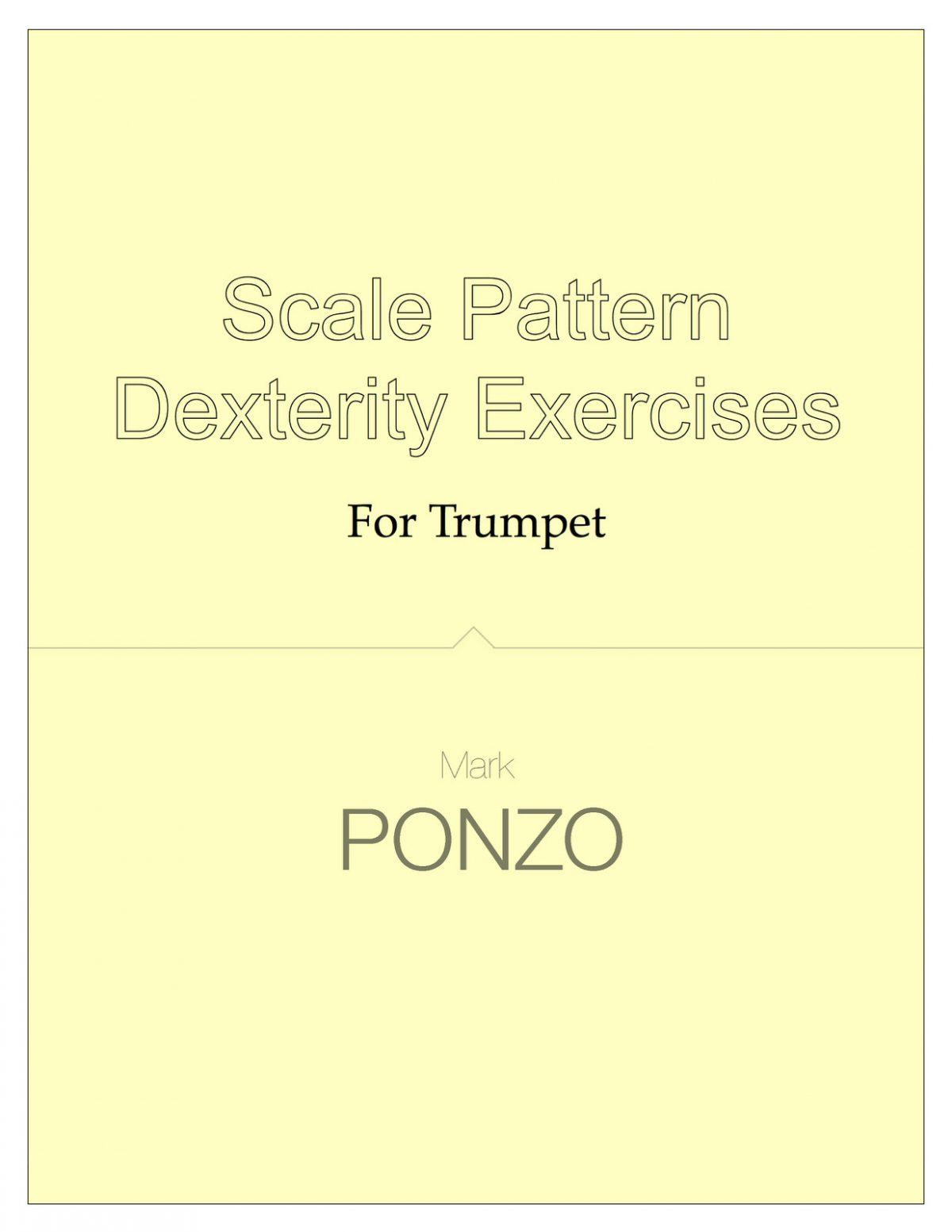 Ponzo, Scale Pattern Dexterity Exercises for Trumpet
