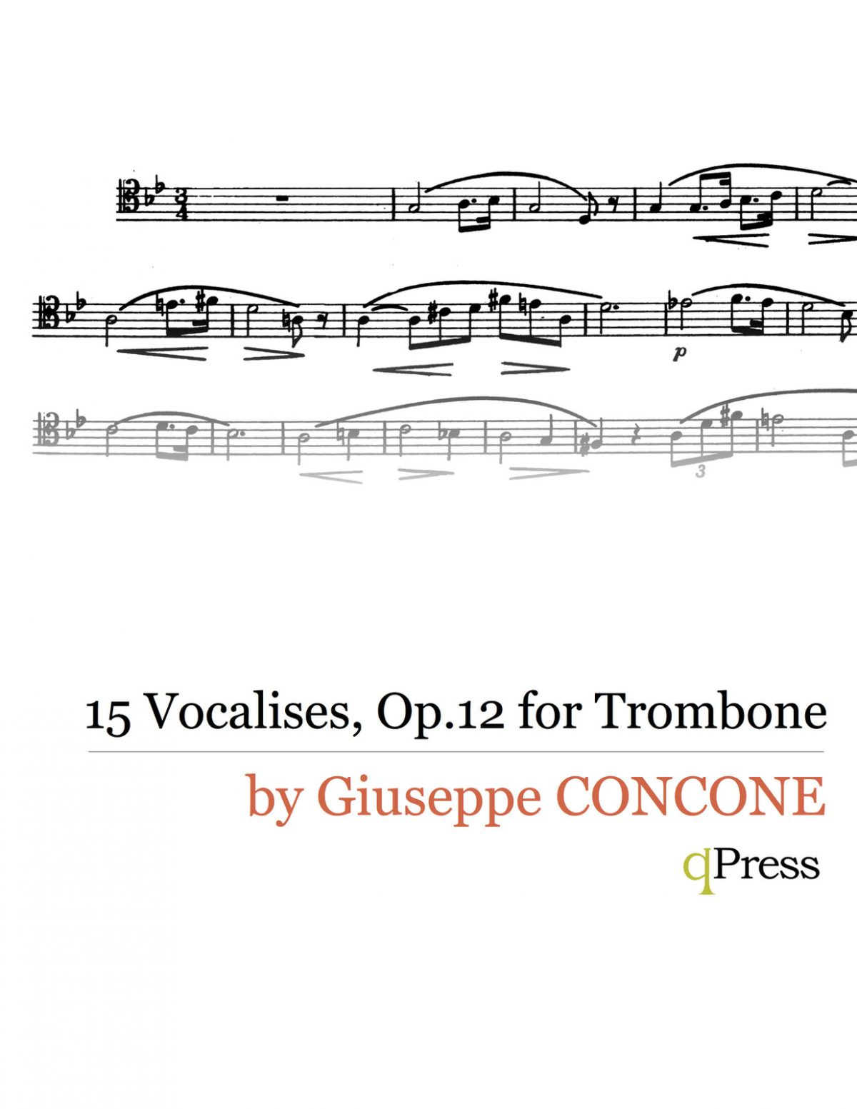 Concone, 15 Vocalises, Op.12 Trombone