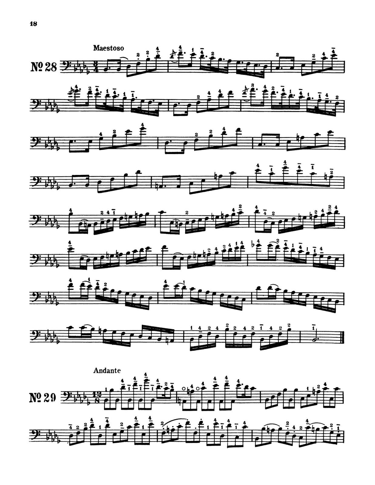 Slama, 66 Etudes in all Major and Minor Keys for Trombone, Tuba, Bassoon String Bass 4