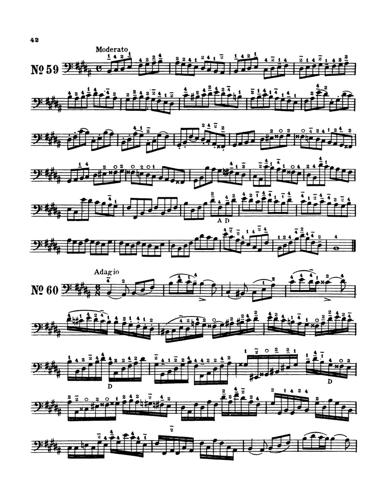 Slama, 66 Etudes in all Major and Minor Keys for Trombone, Tuba, Bassoon String Bass 5