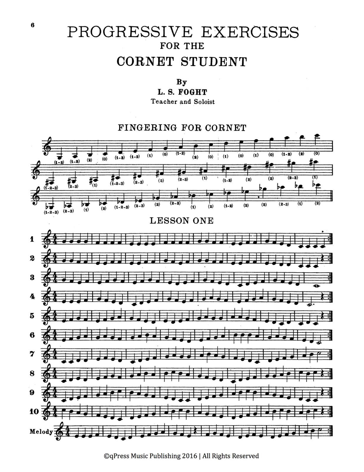 Foght, L.S. Progressive Exercises for the Cornet Student 2