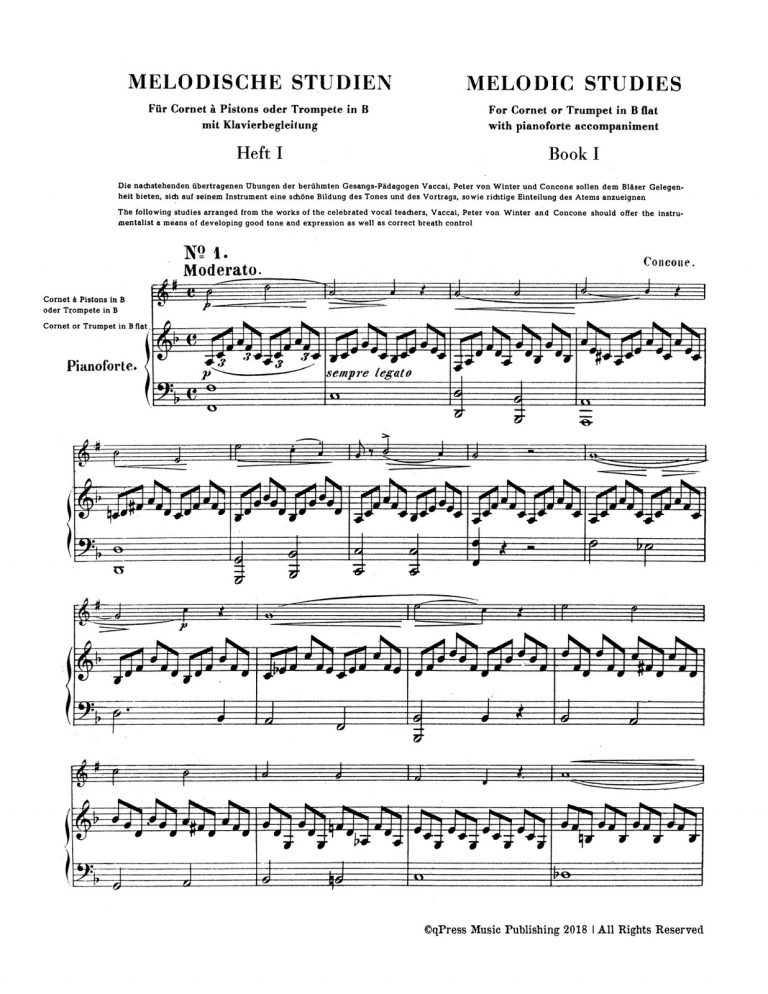 Melodic Studies for Trumpet & Piano Book 1