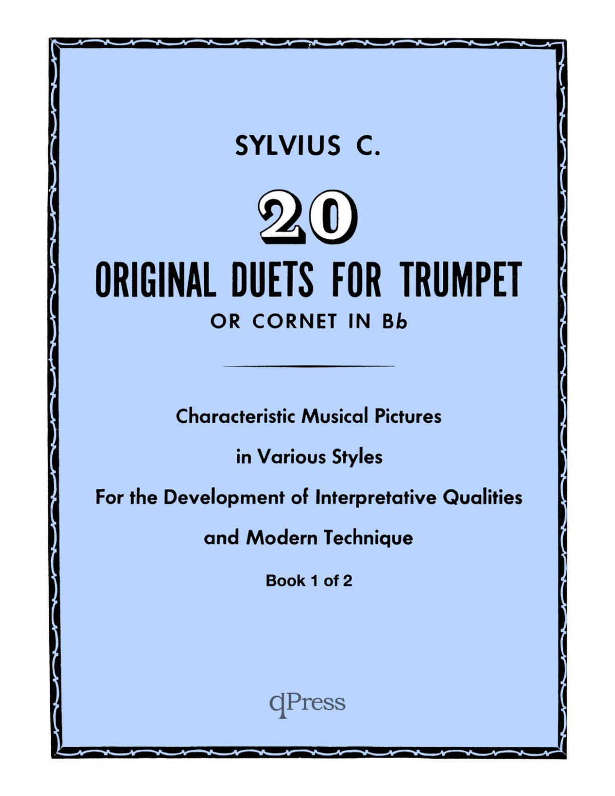 Clean Coscia, Sylvius 20 Original Duets for Trumpet or Cornet Book 1