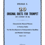 Clean Coscia, Sylvius 20 Original Duets for Trumpet or Cornet Book 1
