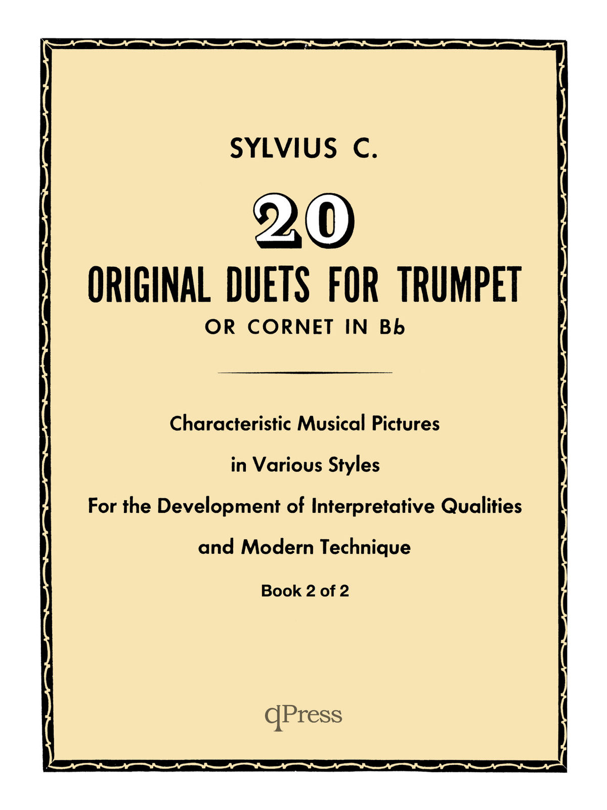 Clean Coscia, Sylvius 20 Original Duets for Trumpet or Cornet Book 2 5