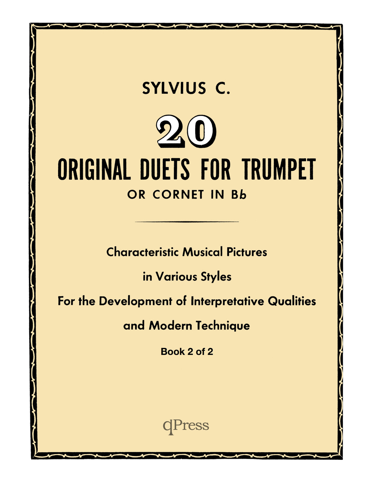 Clean Coscia, Sylvius 20 Original Duets for Trumpet or Cornet Book 2 5