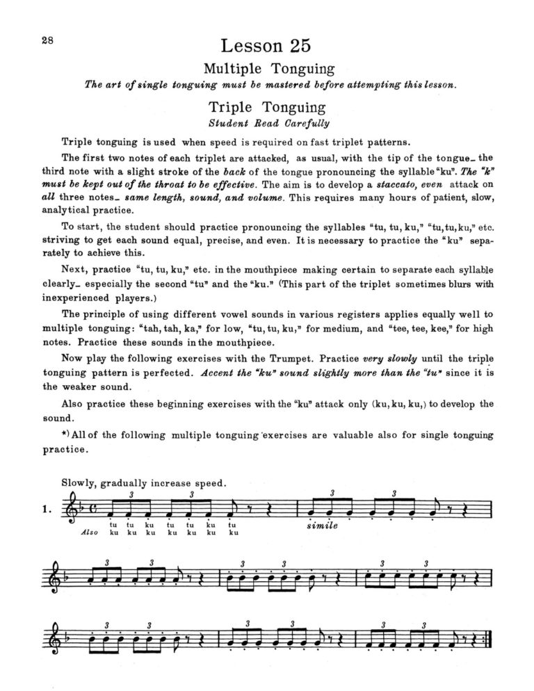Trumpet Playing, A Musical Approach