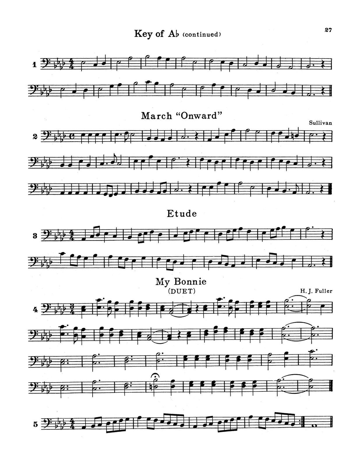 Pease, Fundamental Method for the Trombone and Baritone 4