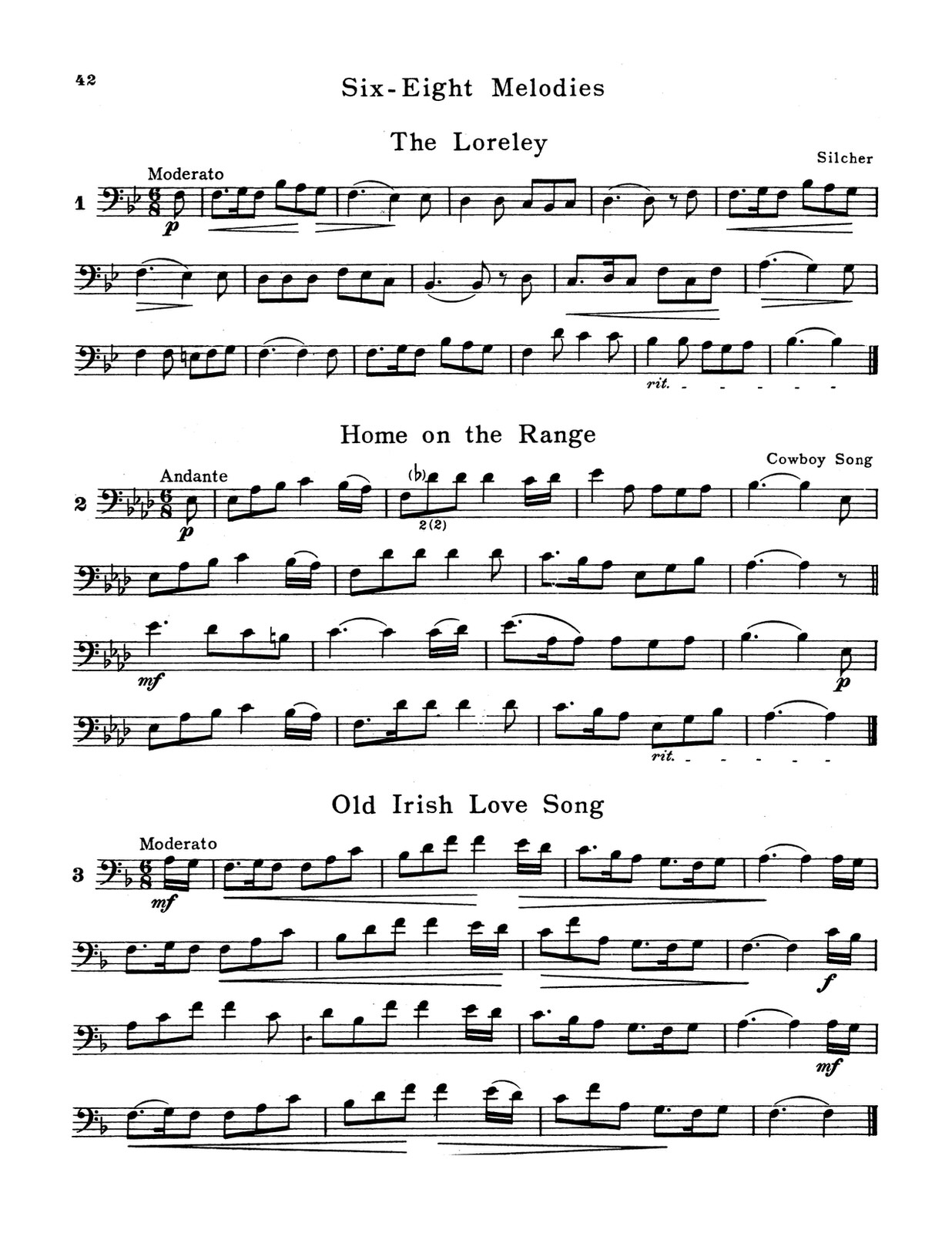 Pease, Fundamental Method for the Trombone and Baritone 5