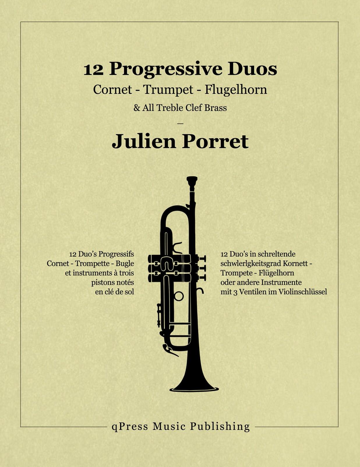 Porret, Julien, 12 Progressive Duos for Trumpet-p01