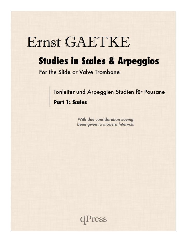 Studies in Scales & Arpeggios for Trombone