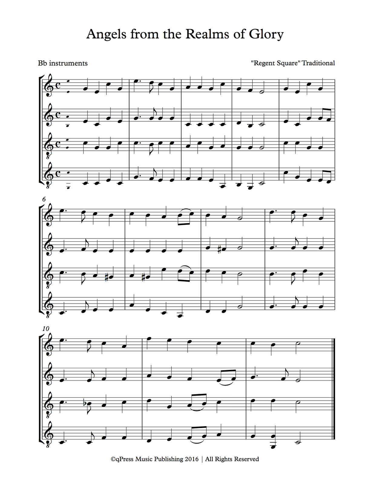 various-traditional-carols-for-1-4-treble-clef-instruments