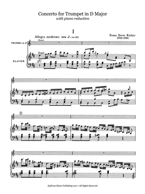 Richter, Concerto for Trumpet in D Major 2