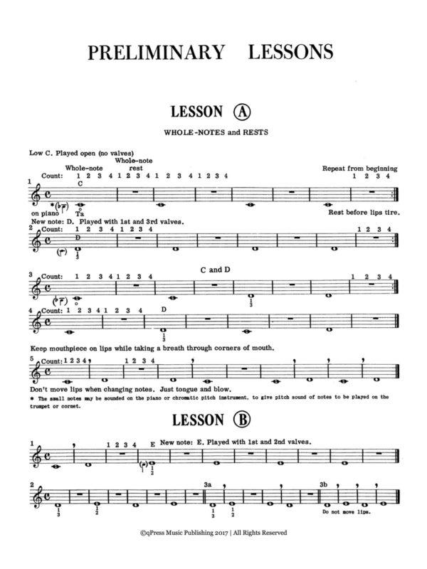 Ronka, Ilmari, Starting Correctly on the Trumpet or Cornet 2