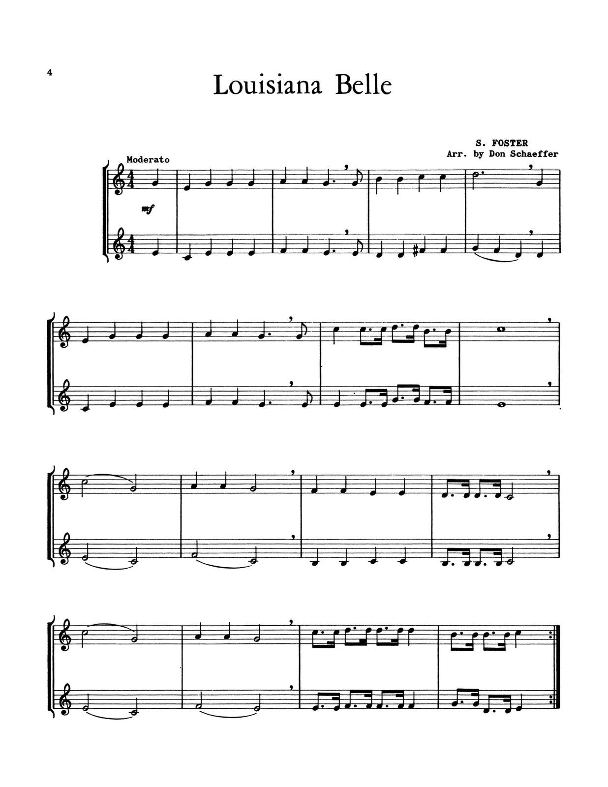Schaeffer, Don, 21 Rhythmic Duets 2