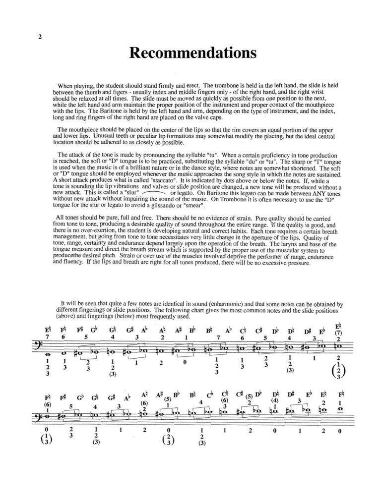 Method of Scales for Trombone
