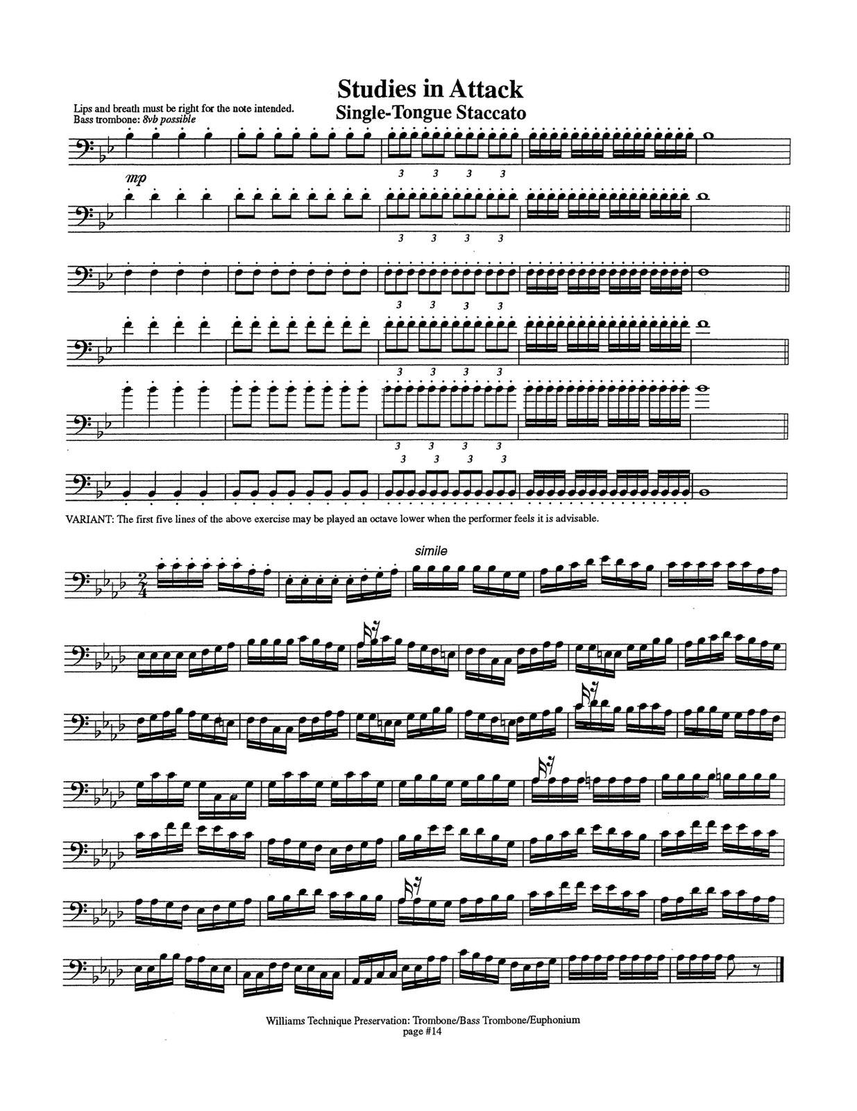 Williams, Secret of Technique Presevation for Trombone 3