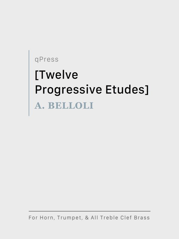 Belloli, 12 Progressive Etudes-p01