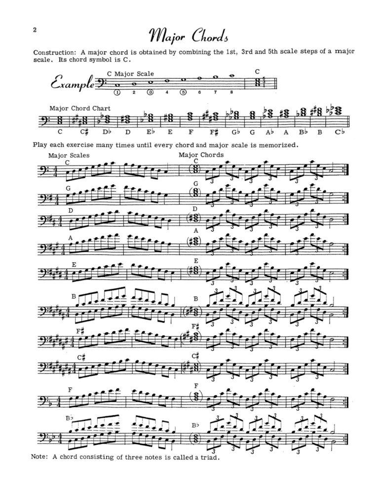 Chords & Progressions (Bass Clef)