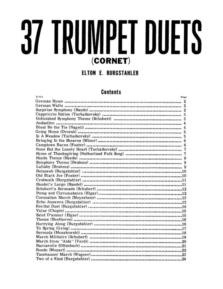 37 Trumpet Duets