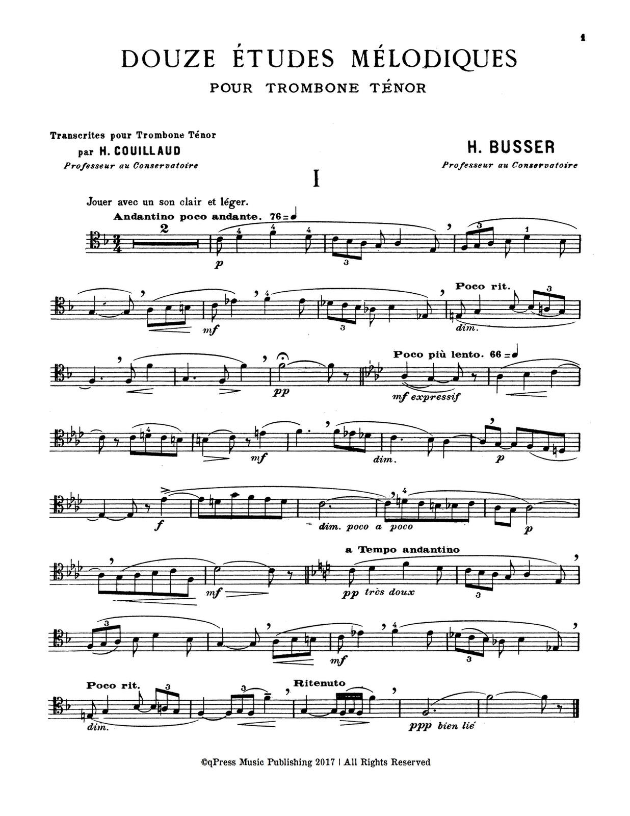 Couillaud-Busser, 12 Melodic Etudes 2