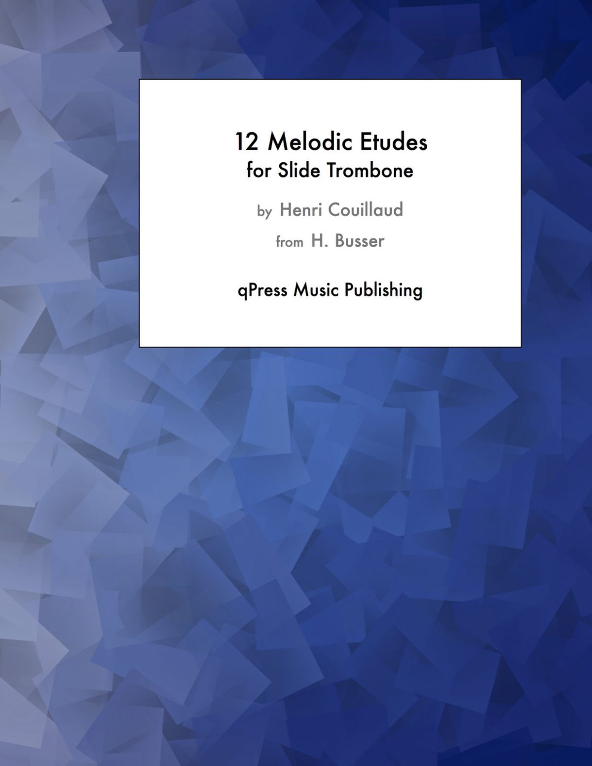 Couillaud-Busser, 12 Melodic Etudes