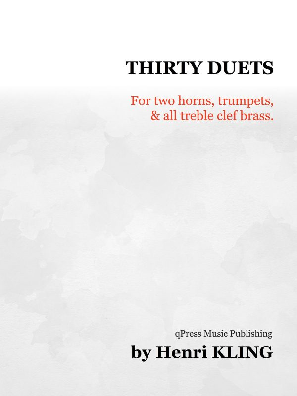 Kling, 30 Duets for Two Horns-p01
