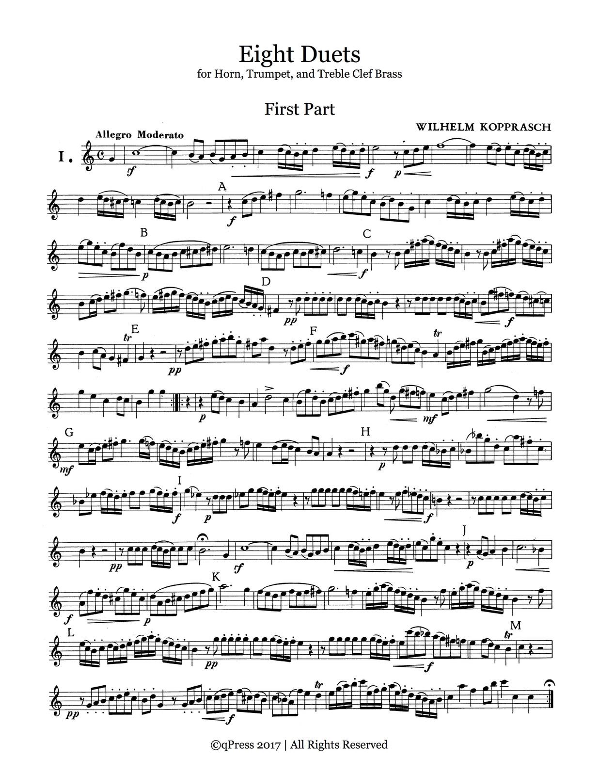 Kopprasch, Eight Duets Horn 1-p3