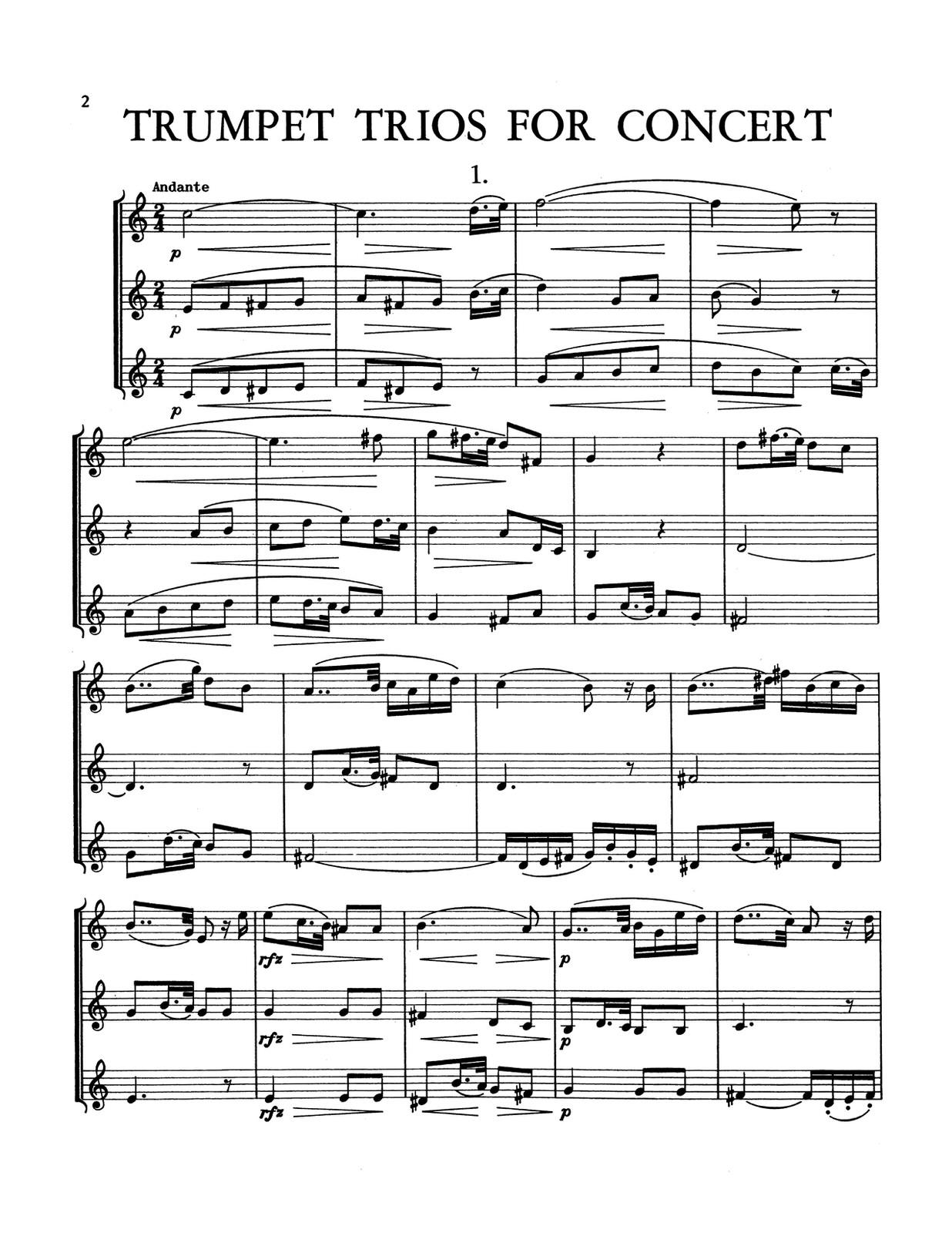 Kresser, Trumpet Trios for Concert-p04