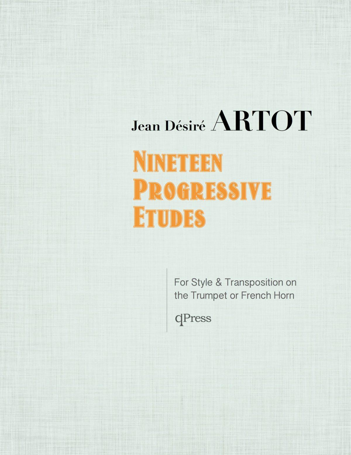 Artot, 19 Progressive Etudes-p01