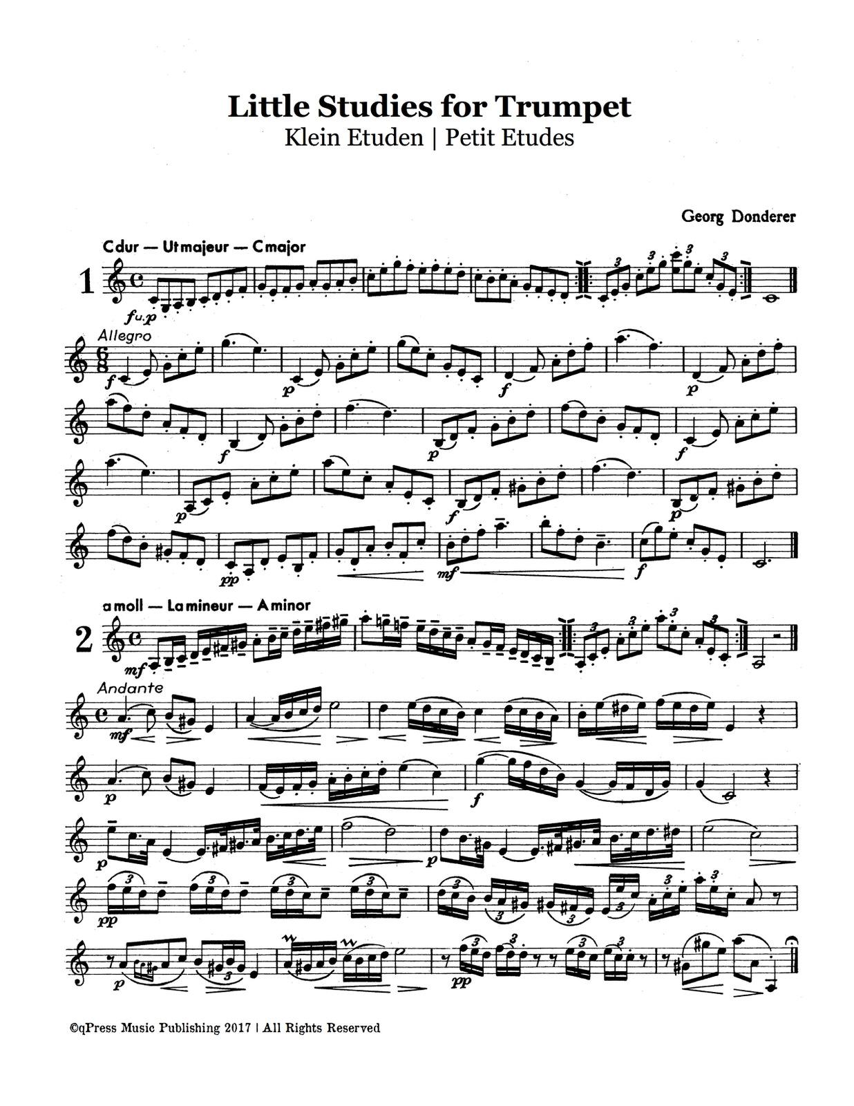 Donderer, Georg, Little Studies for Trumpet-p04