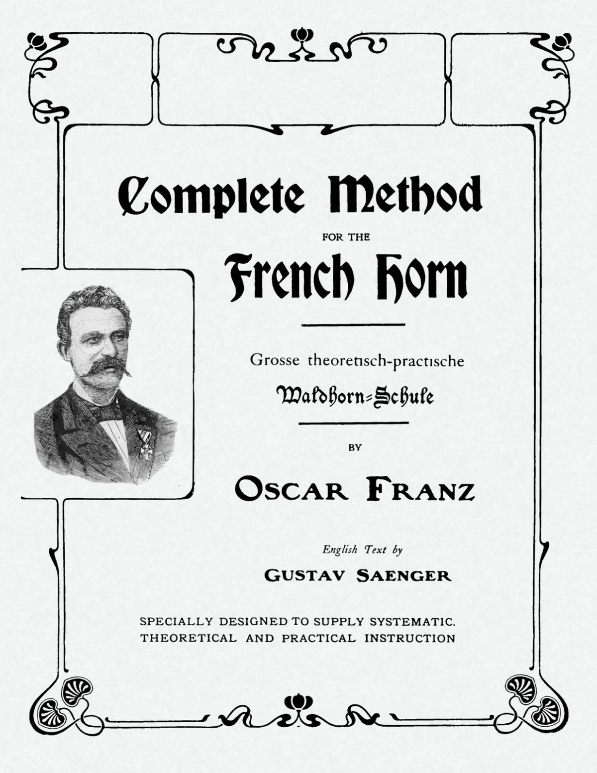 Franz, Oscar, Complete method for the French Horn-p001