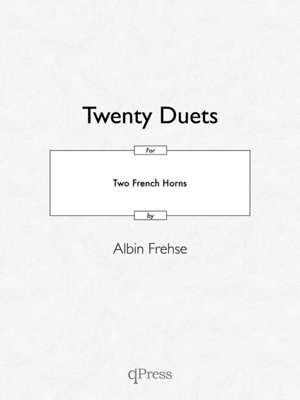 Frehse, Albin, 20 Duets for Two Horns-p01