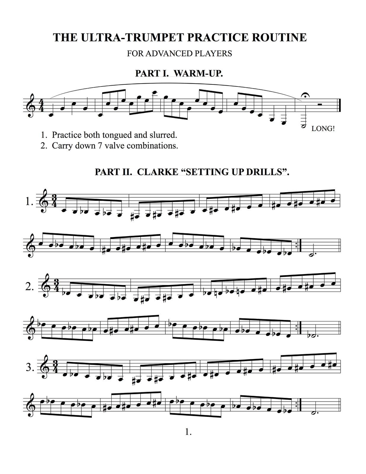 Ultra Trumpet Practice Routine by Knevitt, Bill | qPress