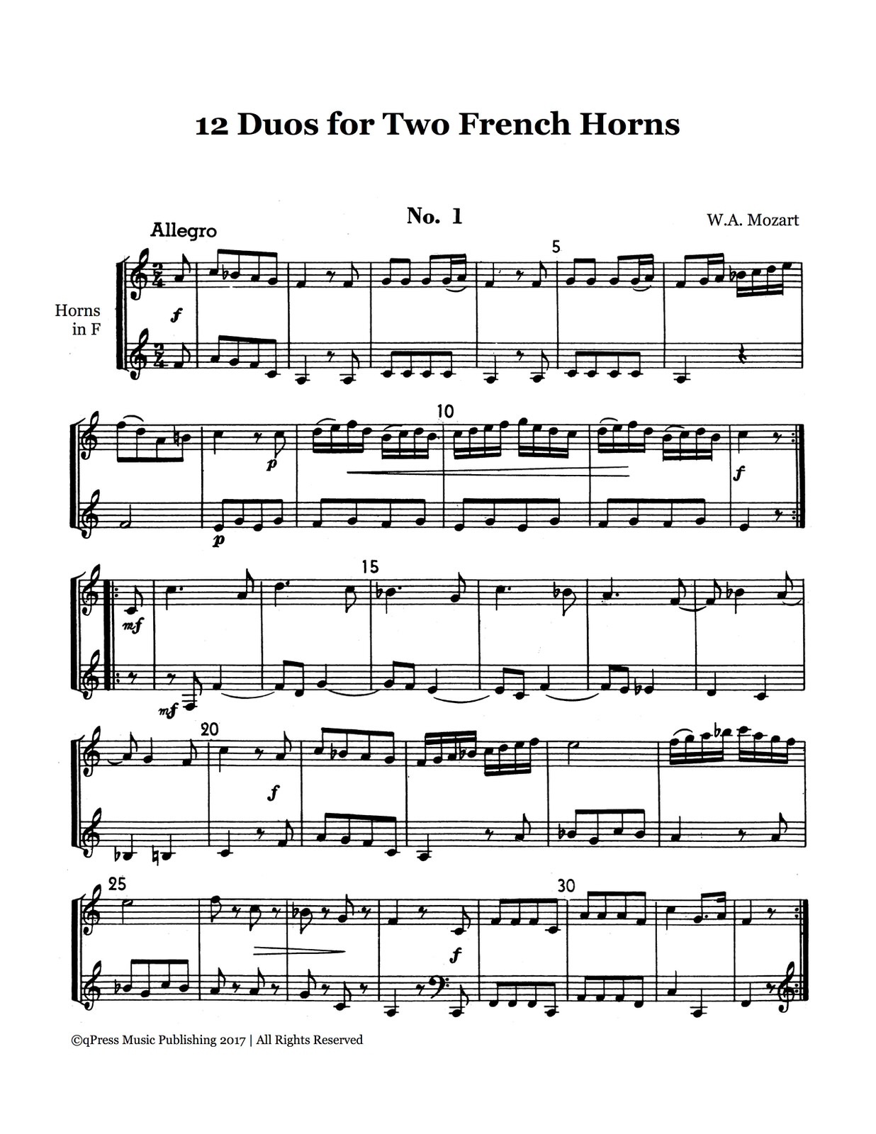 Mozart 12 Duets for Horn-p03