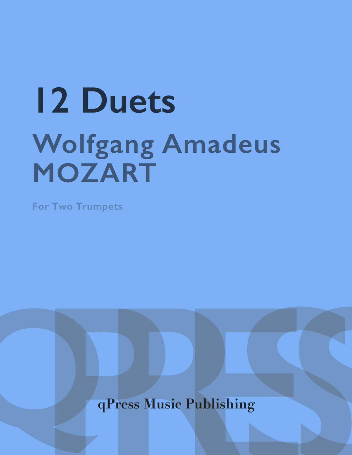 Mozart, 12 Duets for Trumpet-p01