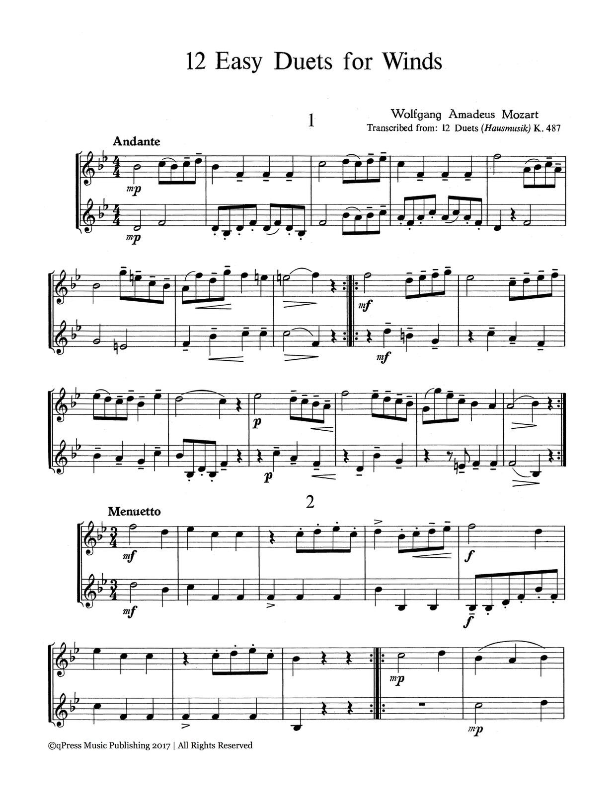 Mozart, 12 Duets for Trumpet-p02