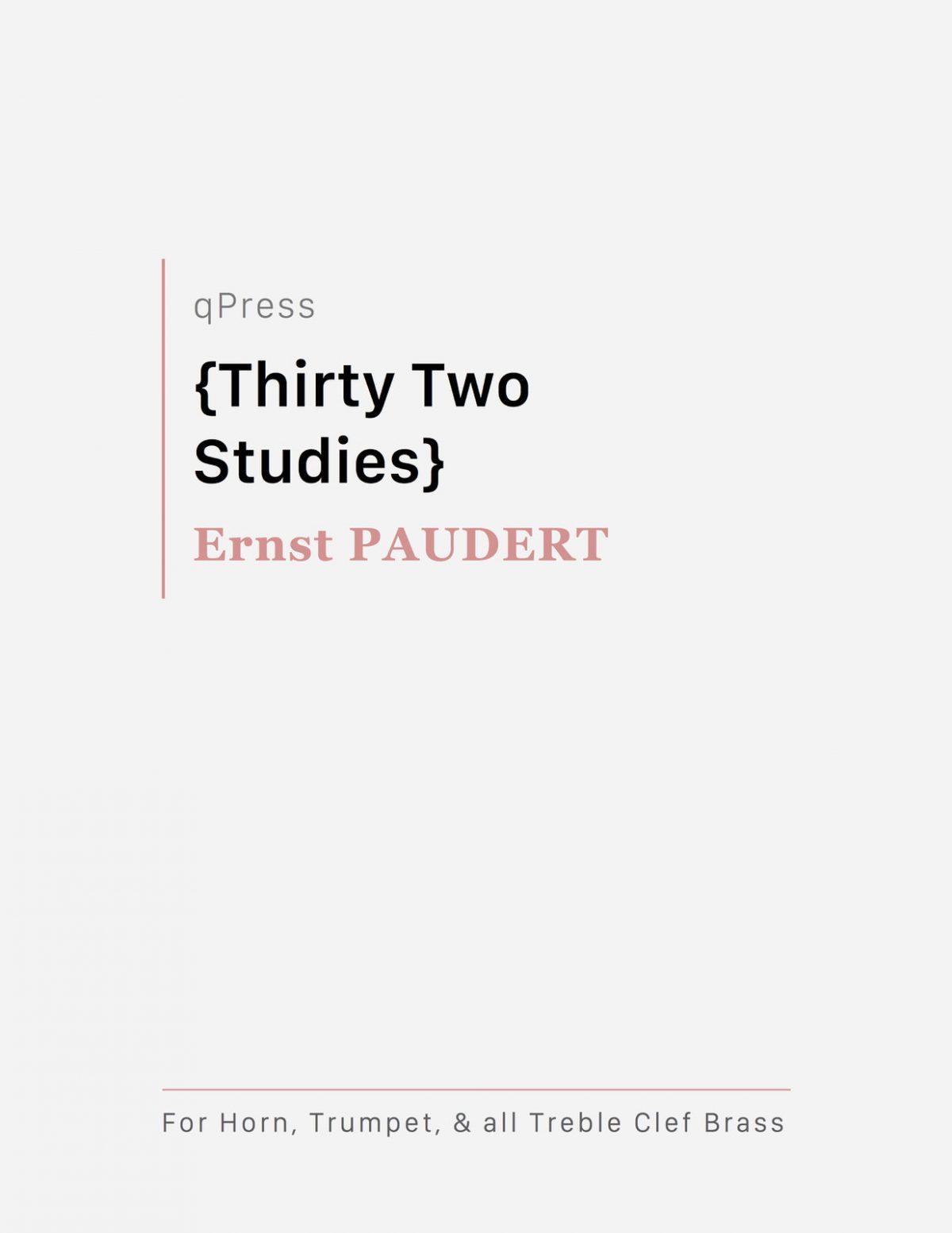 Paudert, 32 Etudes for Horn-p01