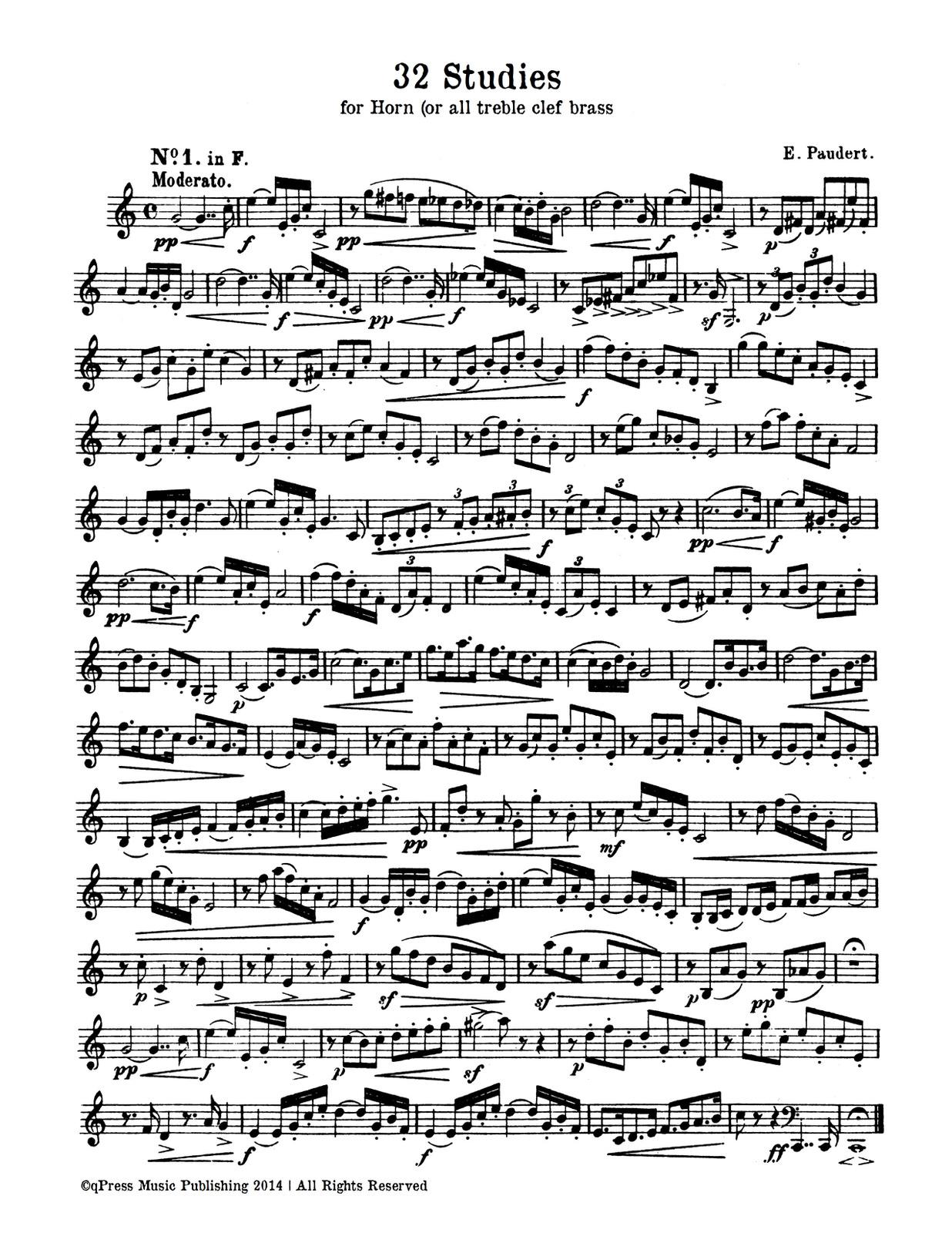Paudert, 32 Etudes for Horn-p02