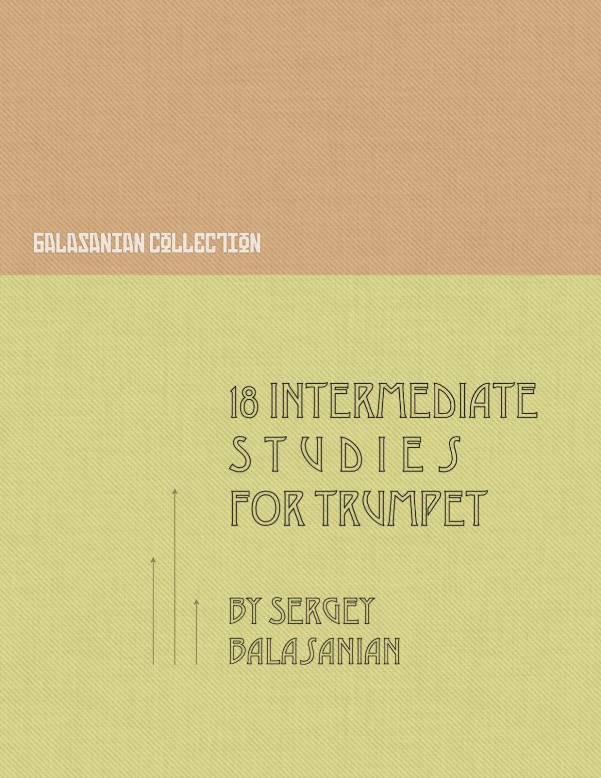 Balasanian, 18 Intermediate Studies for Trumpet-p01