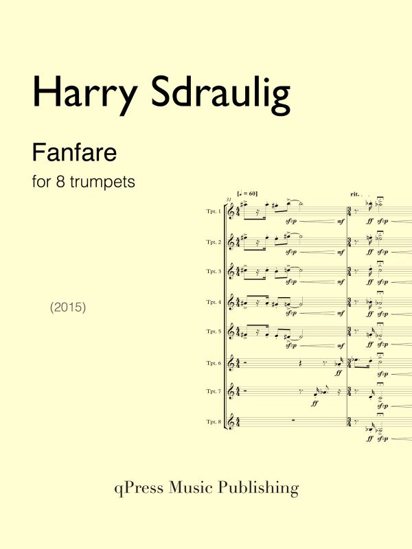 Harry Sdraulig, Fanfare for 8 Trumpets-p01