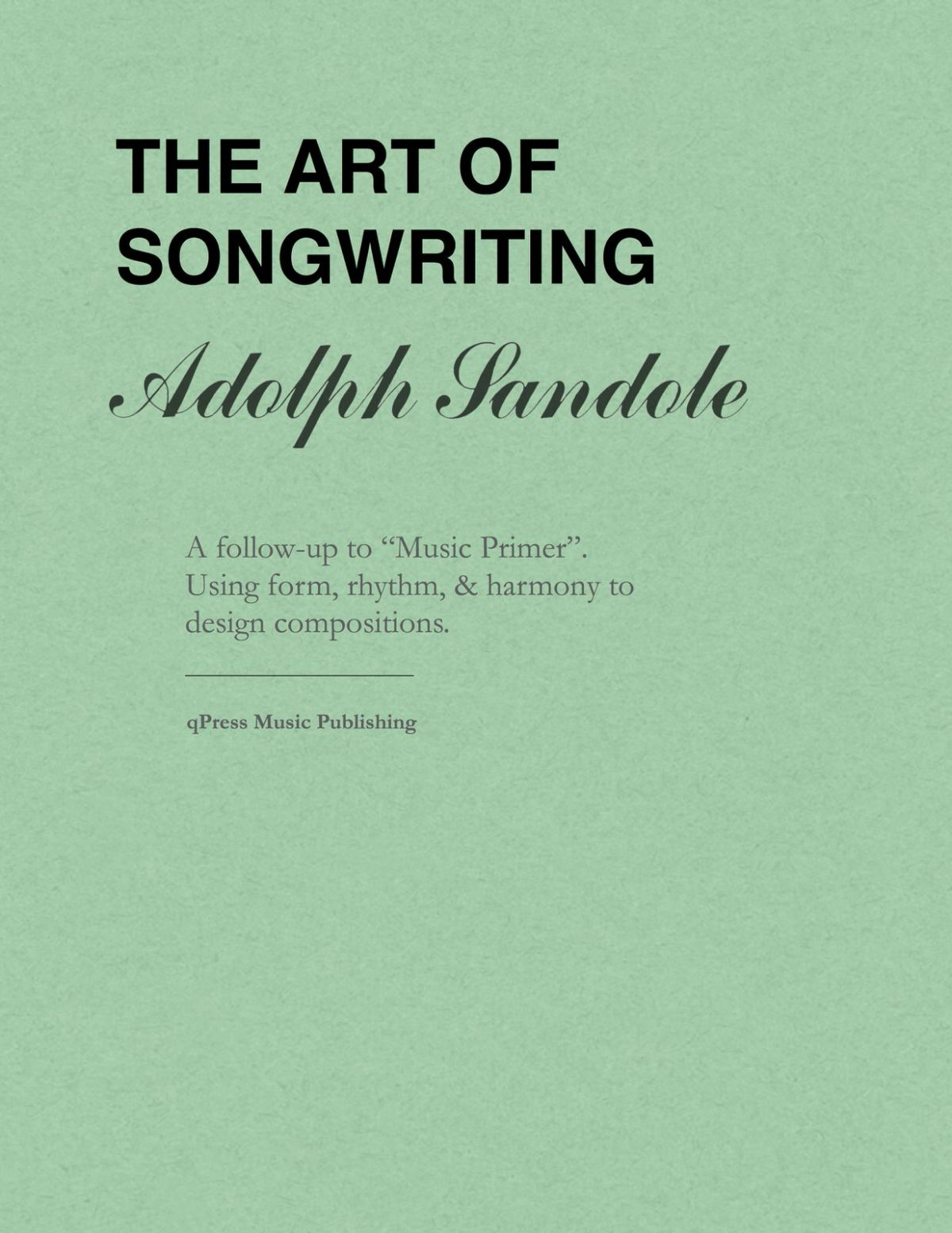 Sandole, The Art of Songwriting-p01