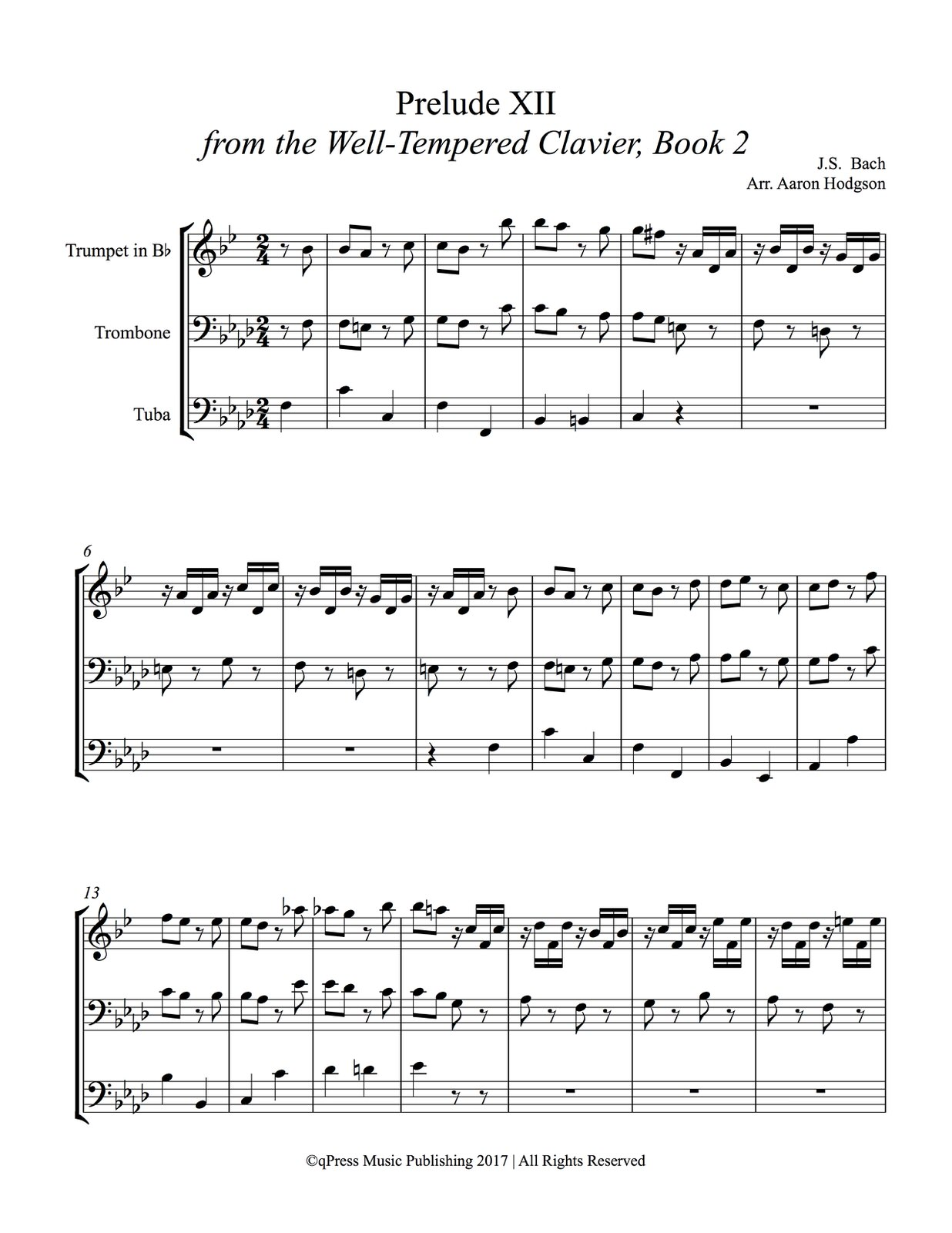 Bach, Prelude XII from WTC 2 (Brass Trio)-p09
